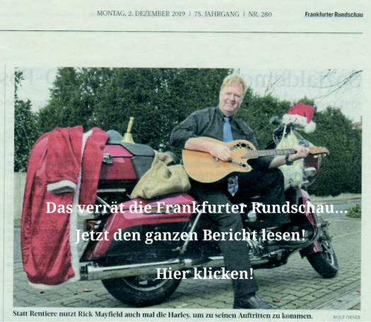 Rick Mayfield Presse - Frankfurter Rundschau - Weihnachtsfeier-Entertainment
